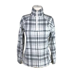 Columbia S Small Fleece Pullover 1/4 Zip Plaid